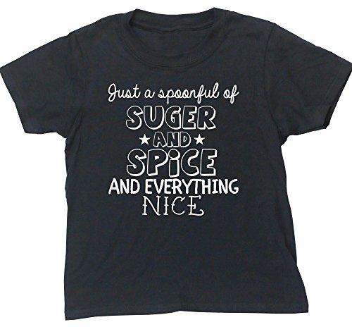 HippoWarehouse SUGAR AND SPICE AND EVERYTHING NICE camiseta manga corta niños niñas...