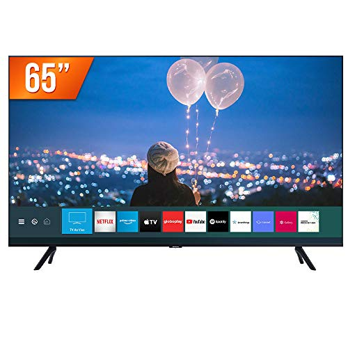 Smart TV 4K Samsung Crystal UHD 65 com Plataforma Tizen 65TU8000, Borda Ultrafina e Wi-Fi
