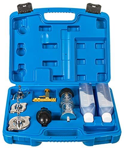 RELD Profi Zylinderkopfdichtung Tester Lecktester CO2 Universal für alle Autos und Motorräder Test Zylinderkopf Dichtung Rapid Engine Leak Detector mit 500ml Reaktionsflüssigkeit