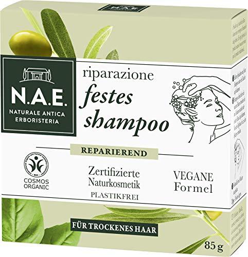 N.A.E. Naturale Antica Erboristeria riparazione festes Shampoo, COSMOS Organic zertifiziert durch IONC (BDIH) & Vegane Formel, 1er Pack (1 x 85 g)