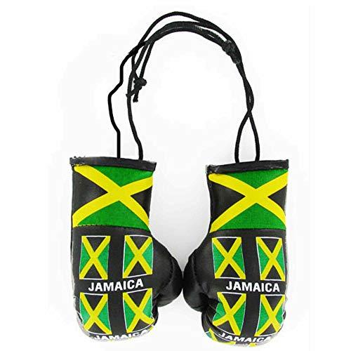 Mini guantes de boxeo con bandera de Jamaica para el coche o el hogar