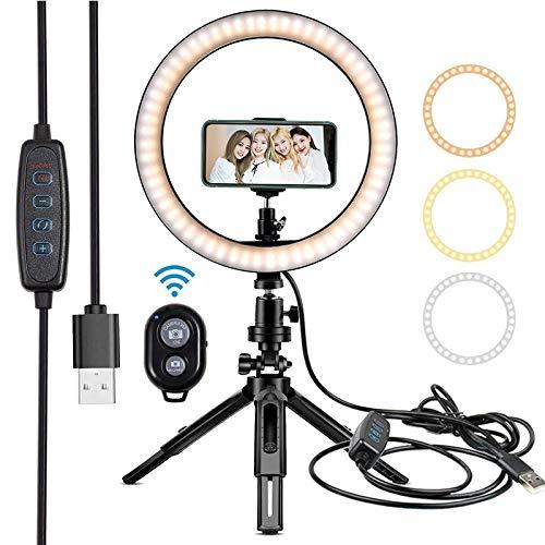 10' aro de luz LED de la lámpara de iluminación fotográfica de Relleno for el Estudio de Maquillaje de Youtube Luz del Anillo Luz del Anillo for el Ordenador portátil Luz de Relleno