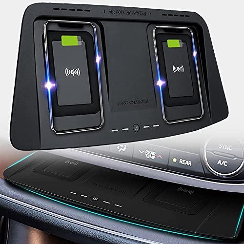 Braveking1 Cargador Inalámbrico Coche Auto Compatible con Toyota Highlander 2014 2015 2016 2017 2018 2019 Consola Central Panel, 15W Carga Rápida Auto Teléfono Cargador para iPhone 12/11/XS/X Samsung