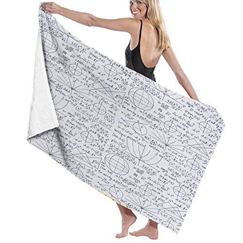 N \ A Large Soft Lightweight Microfiber Bath Towel Blanket,Ivory Rococo Style Oriental Print,Bath Sheet Beach Towel for Family Hotel Travel Swimming Sports Home Decor,52' x 32'