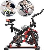 Bicicleta de ciclismo de interior, volante silencioso de 8 kg con volante, monitor de 5 funciones, bicicleta de ejercicios y entrenador de abdominales, equipo deportivo, entrenador de cardio ideal