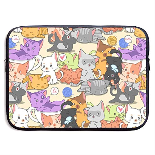Little Cat Laptop Carrying Case Waterproof Laptop Sleeve, Laptop Sleeve Bag Neoprene Handbag Protective Bag Cover Case for 13'' 15
