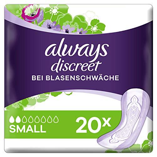 Preisvergleich Produktbild Always Discreet Inkontinenz-Einlagen Small bei Blasenschwäche (2 x 20 Stück)