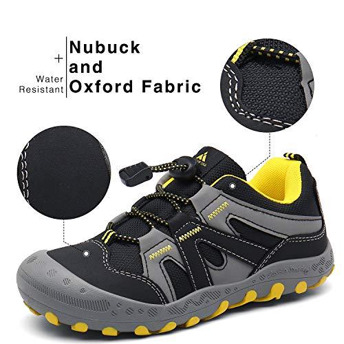 Zapatillas para Niños Zapatos Montaña Niño Calzado Trail para Chicos Respirable Zapatillas Trekking Infantil Negro 37 EU