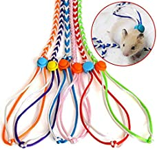 Zittop 1 Pair Small Animal Leash Lead Harness Rope Hamster Rat Mouse Adjustable Rope