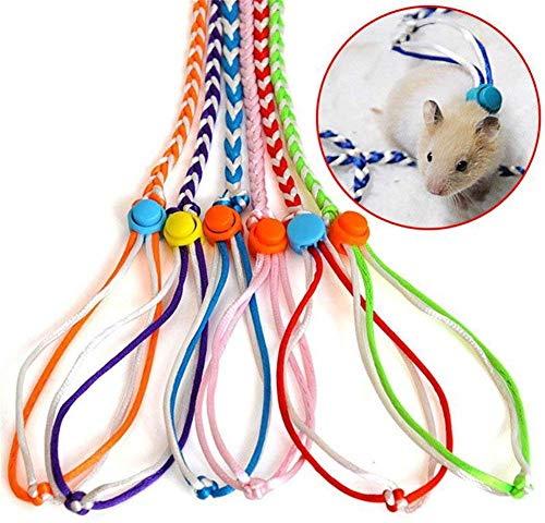 Widen Small Animal Leash Lead Harness Rope Hamster Rat Mouse Adjustable Rope
