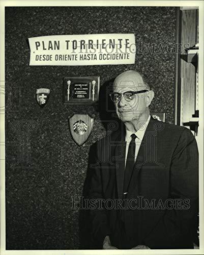 Imágenes Históricas 1970 Fotografía de prensa José de la Torriente, Líder de la Comunidad Cubana del Exilio