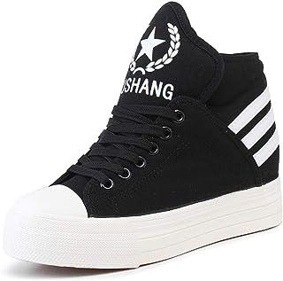 LaBiTi Women's High Top Classic Canvas Fashion Sneaker Walking Shoes