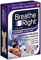 (104 Strips) NEW Breathe Right Nasal Strips : LAVENDER SCENTED Strips - Calming Lavender by Breathe Right