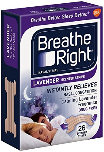 Breathe Right Nasal Strips, Lavender scent 26 Count (4 Pack)