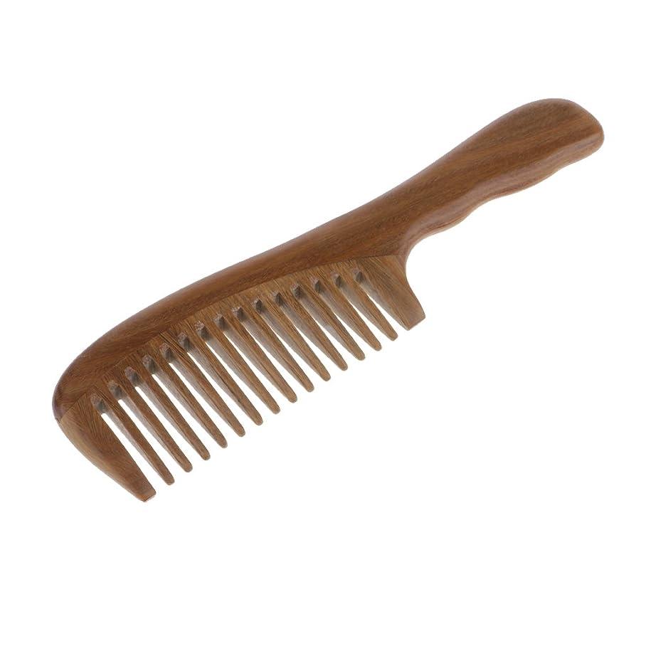 稼ぐ酒感謝コーム 櫛 木製 ヘアブラシ ウッドコーム 頭皮マッサージ 帯電防止 2タイプ選べる - 広い歯