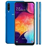 Samsung Galaxy A50 128GB, 4GB RAM 6.4' Display, 25MP, Triple Camera, Global 4G LTE Dual SIM GSM Factory Unlocked A505G/DS - International Model (Blue, 128 GB)