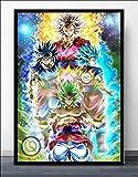KWzEQ Imprimir en Lienzo Anime Manga póster Moderno y Fotos para el sofá de la sala50x75cmPintura sin Marco