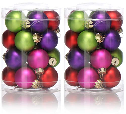 COM-FOUR® 40x Glazen kerstboombal - Kerstballen voor de kerstdecoratie - Boomdecoraties voor de kerstboom (40 stuks - kleurrijk)
