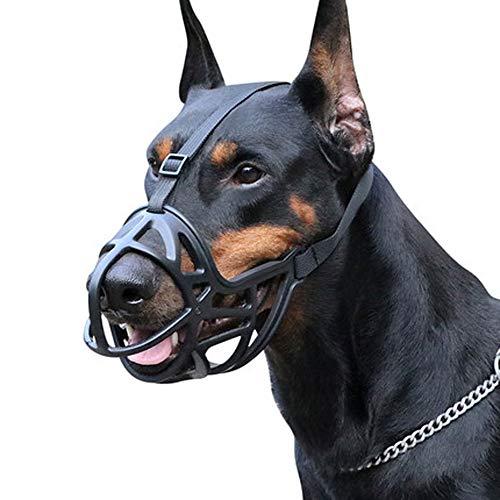 XXCC Bozal de Perro,Bozal para Perro,bozal Suave Transpirable,Hebilla de tamaño Ajustable,Suave y cómodo,Anti-mordiscos/Anti-Comer/Anti-ladridos,Bozal de Perro