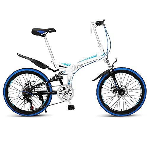 COUYY Bicicleta para niños Suspensión de la Bicicleta de montaña de 22 Pulgadas Adultos para la Bicicleta de aleación Ligera de la Bicicleta,Azul