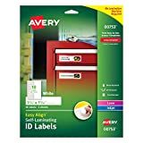 "Avery Easy Align Self-Laminating ID Labels, Water Resistant, Tear Resistant, 3-1/2"" x 1-1/32"""