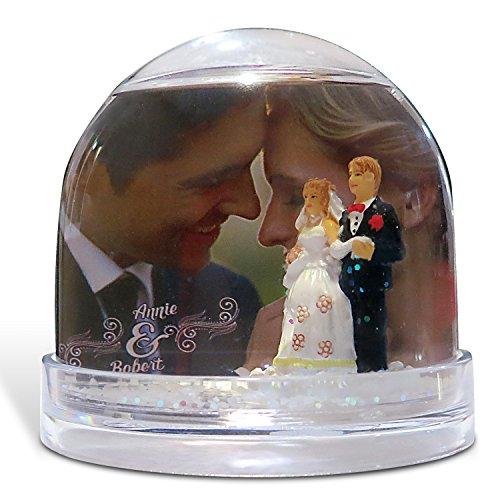 Bola de Nieve Novios Personalizada con tu Foto, diseño o Texto, Original y Exclusivo.