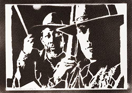 Poster Sin Perdón Clint Eastwood y Morgan Freeman Grafiti Hecho a Mano - Handmade Street Art - Artwork