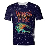 Venawy Wings of Fire Mens Woman Shirt Adult Double-Sided Printing Short Sleeve Crew Neck T Shirt Tee
