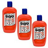 Gojo 957 Natural Orange Pumice Hand Cleaner - 14 oz. - 3 Pack