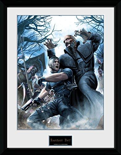 Resident Evil Framed Poster Leon 45 x 34 cm Wall Scrolls