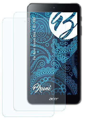 Bruni Schutzfolie kompatibel mit Acer Iconia One 7 B1-790 Folie, glasklare Bildschirmschutzfolie (2X)