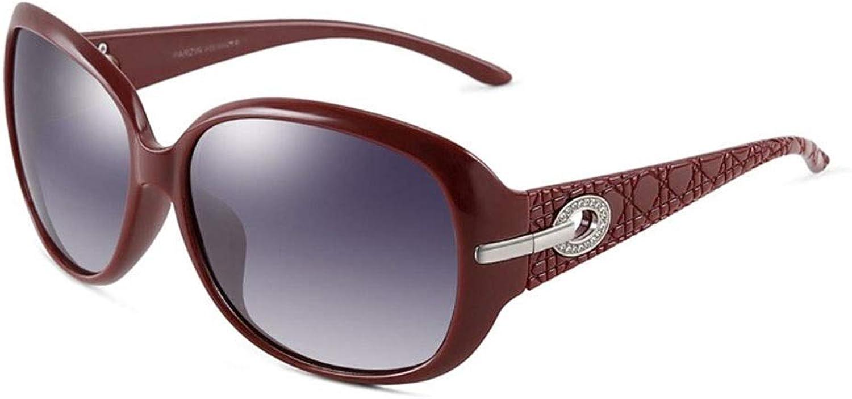 Sunglasses, Ladies Vintage Fashion Polarized Diamond Element Classic Design Sunglasses