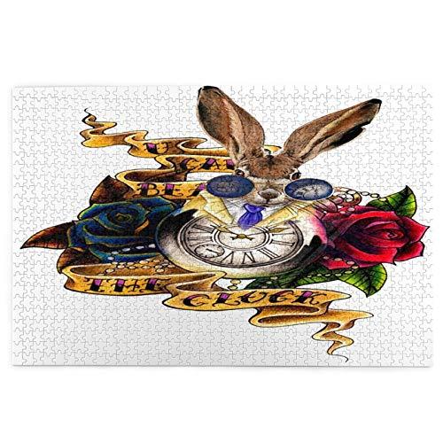 Airmark Rompecabezas de 1000 Piezas,Rompecabezas de imágenes,Reloj de Conejo Que aparece Alices Wonderland,Juguetes Puzzle for Adultos niños Interesante Juego Juguete...
