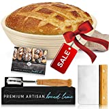 Baking & Beyond Banneton Basket, Bread Proofing Basket Set (9 inch), Bread Banneton Proofing Basket, Brotform, Proofing Baskets for Sourdough, Sourdough Banneton Basket, Sourdough Basket Starter Kit