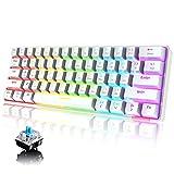 UrChoiceLtd 60% Clavier mécanique câblé/sans Fil Bluetooth 5.0 Keyboard à Double Mode 61-Key RGB...