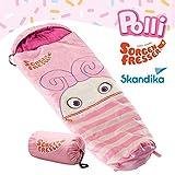 Skandika Sorgenfresser Schlafsack für Kinder mit großer Tasche (bis -12°C) (Polli)