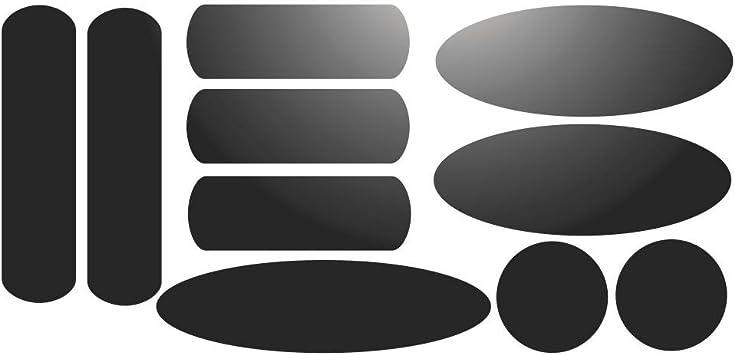 Set 10 Reflektierende Aufkleber Für Signalvorrichtungen Für Helm Schwarz Reflektierent Küche Haushalt
