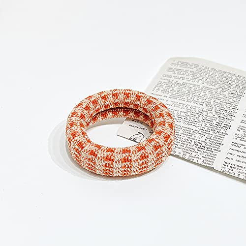 Banda elástica cuerda cola de caballo diadema fija diadema de algodón