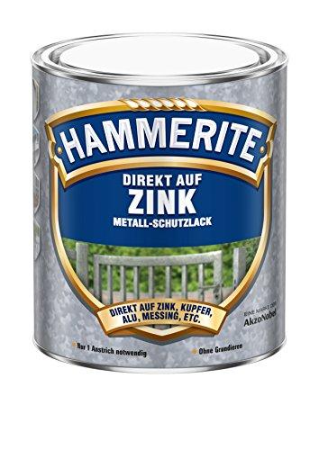 0,75L Hammerite Metallschutz Lack Direkt auf Zink kupfer