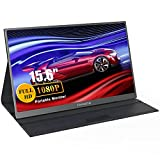 """Portable Monitor, FANGOR 15.6"""" FHD1080P Portable Monitor for Laptop USB-C HDMI Computer Display IPS..."""