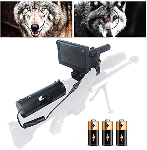 Sumger DIY 984ft/328yard Infrared Hunting Night Vision Scopes for Rifles,3MP 16MM IR Optics Scope Camera for Riflescopes with 4.3