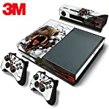 X1 Skin Decal Skin Sticker Dinosaur T-Rex Custom Design + 2 Controller & Kinect Skins Set