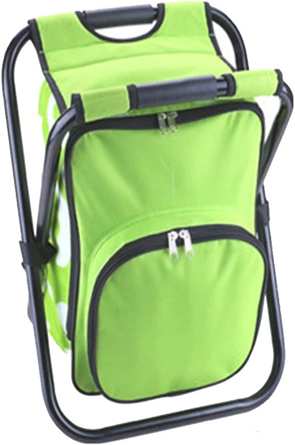Folding Cooler and Stool Backpack, Multifunction Collapsible Camping Seat and Insulated Ice Bag with Padded Shoulder Straps