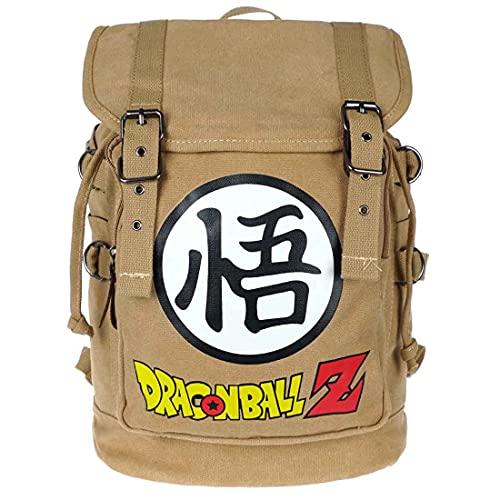 Dragon Ball Z Sac à dos en toile avec cordon de serrage et rabat