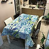 Mantel de Flores de Plantas Verdes, Mantel Impermeable para el hogar, Adecuado para Cocina, Restaurante, Picnic, Fiesta, Exterior M-11 140x160cm