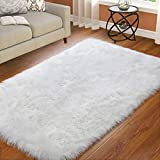 ST. BRIDGE Faux Fur Rugs, Super Soft Fluffy Sheepskin Rug Modern Indoor Home
