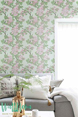 Papier peint adhésif autocollant -/Pell & Stick/Papier peint Motif rose Apple Arbre Fleur temporaire Sticker mural/003, 53 Cm wide by 243 Cm Tall