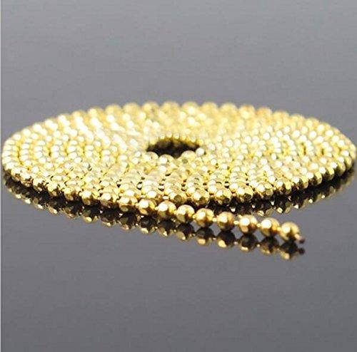 CHENGYIDA 11 Yards Vrouwen Nagel Art tips 3D Stickers Goud zilver Kleur Metaal Glitter Striping Ketting ronde kraal ketting Decoraties goud kleur/1mm