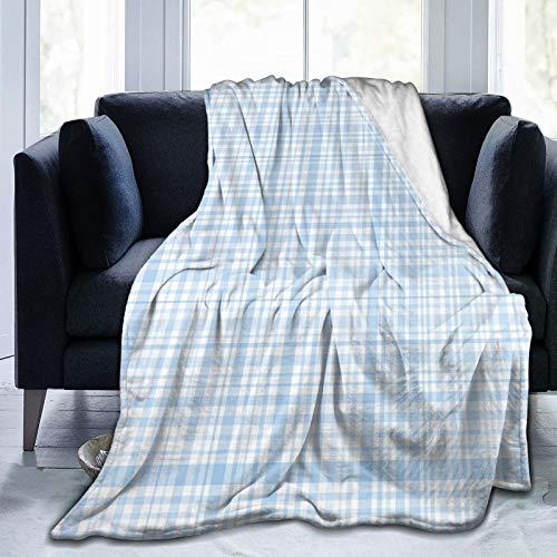 Manta mullida, patrón de colcha a cuadros con cuadrados y líneas abstractas arreglo tradicional, ultra suave, manta para dormitorio, cama, TV, manta de cama de 50 x 40 pulgadas