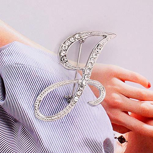 Broche de metal HINK-Home, 1 pieza de cristal, 26 letras inglesas, para pareja, joyería conmemorativa, regalo de amor, accesorio de ropa, grandes ventas, Mujer, delete, L